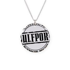 Gulfport Title W Necklace Circle Charm