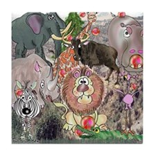 8575_africa_cartoon Tile Coaster