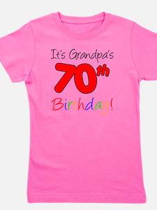 Its Grandpas 70th Birthday Girl's Tee