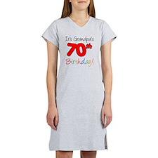 Its Grandpas 70th Birthday Women's Nightshirt