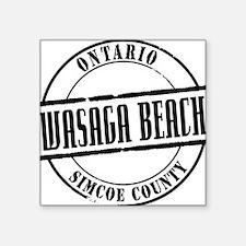 """Wasaga Beach Title W Square Sticker 3"""" x 3"""""""