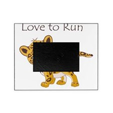 love to run cheetah Picture Frame