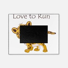 love to run cheetah Picture Frame