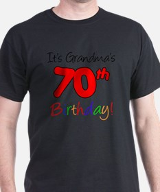 Its Grandmas 70th Birthday T-Shirt