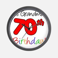 Its Grandmas 70th Birthday Wall Clock