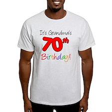 Its Grandmas 70th Birthday T-Shirt