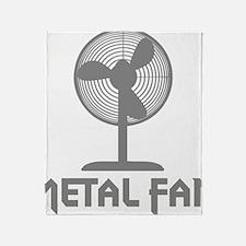 metal fanC Throw Blanket