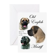 mastiff trio brushed 3 Greeting Card