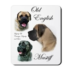 mastiff trio brushed 3 Mousepad