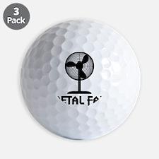 metal fanA Golf Ball
