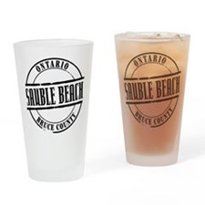 Sauble Beach Title W Drinking Glass