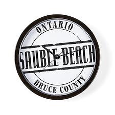 Sauble Beach Title W Wall Clock