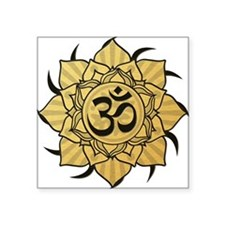 "aum-gold Square Sticker 3"" x 3"""