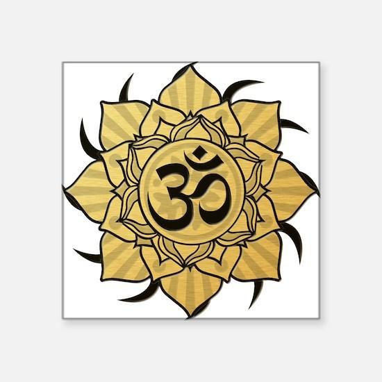 "aum-gold Square Sticker 3"" x 3"""