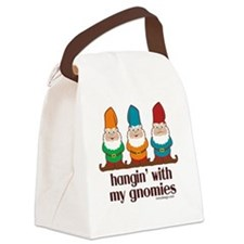 hanginwithmygnomiesBUTTON Canvas Lunch Bag