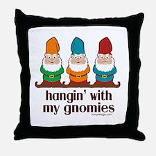hanginwithmygnomiesBUTTON Throw Pillow
