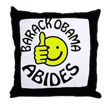 Barack Obama Abides Throw Pillow