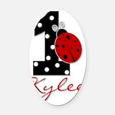 1_ladybug_KYLEE Oval Car Magnet