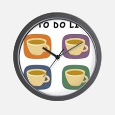 coffeetodolist Wall Clock