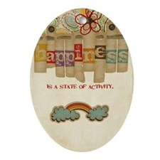 happinessactivity Oval Ornament