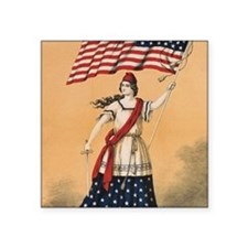 "Stars and Stripes Square Sticker 3"" x 3"""