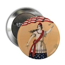 """Stars and Stripes 2.25"""" Button"""
