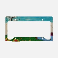 vacation island License Plate Holder