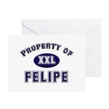 Property of felipe Greeting Cards (Pk of 10)