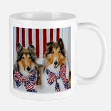Patriotic Collies Mug