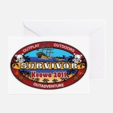 Survivor Keowa 137 - 2011 rev 1 Greeting Card