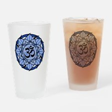 aum-blue Drinking Glass