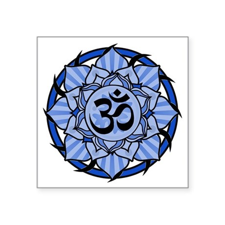 "aum-blue Square Sticker 3"" x 3"""
