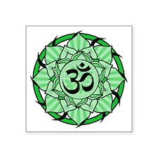 "aum-green Square Sticker 3"" x 3"""