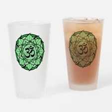 aum-green Drinking Glass