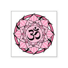 "aum-pink Square Sticker 3"" x 3"""