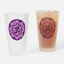 aum-purple Drinking Glass