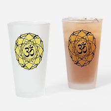 aum-yellow Drinking Glass