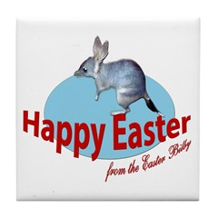 Easter Bilby Gifts, Tile Coaster