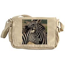 nuzzling zebras Messenger Bag