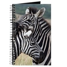 nuzzling zebras Journal