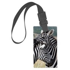 nuzzling zebras Luggage Tag
