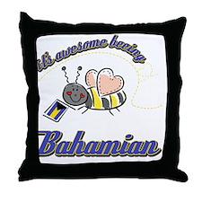 bahamian-black Throw Pillow