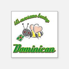 """dominican-black Square Sticker 3"""" x 3"""""""