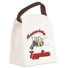 egyptian-white Canvas Lunch Bag