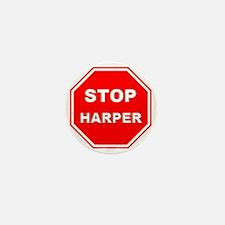 Stop Harper 001 Mini Button