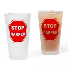 Stop Harper 001 Drinking Glass