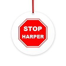Stop Harper 001 Round Ornament