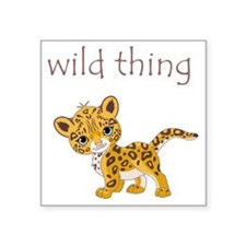 "cheetah Square Sticker 3"" x 3"""