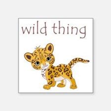 "cheetah Square Sticker 3"" x 3"""