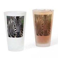 single zebra Drinking Glass